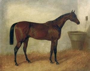 Merry Monarch A Bay Mare In a Stable 1845