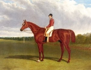 John Frederick Herring Snr - Pleni Potententiary With Jockey Up 1835