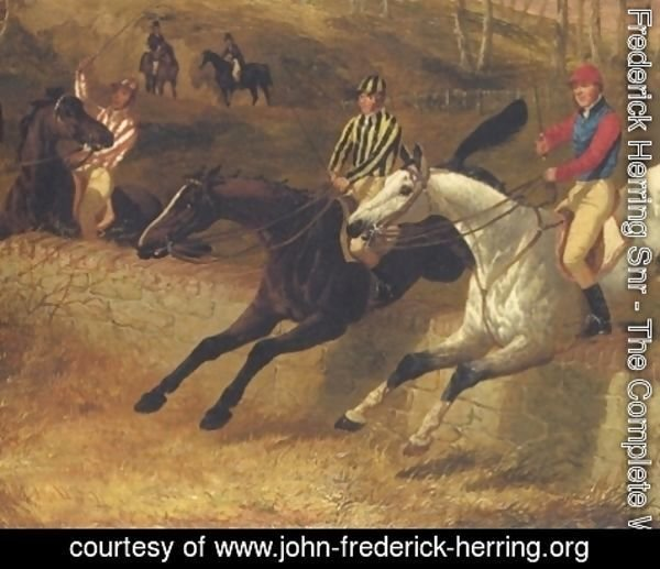 John Frederick Herring Snr - Steeplechase The Wall 1 Detail