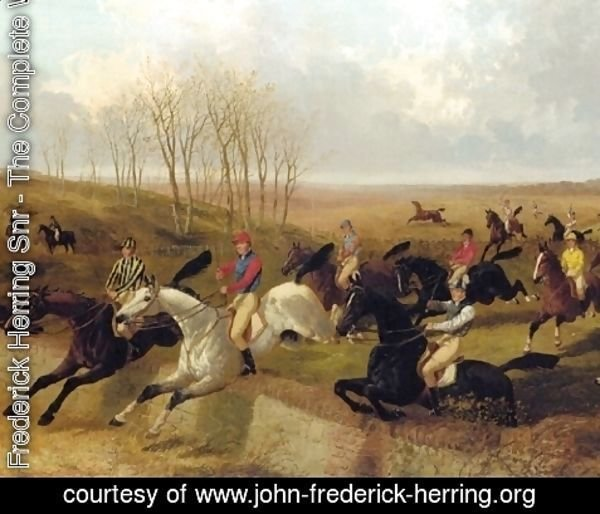 John Frederick Herring Snr - Steeplechase The Wall 2 Detail