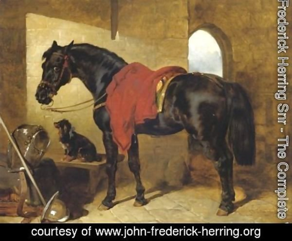 John Frederick Herring Snr - The Cavaliers Charger 1853