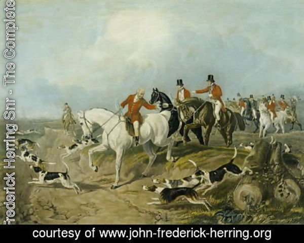 John Frederick Herring Snr - The Find, engraved by Huffman and Mackrill