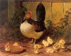 John Frederick Herring Snr - The Proud Mother Hen and Chicks 1852
