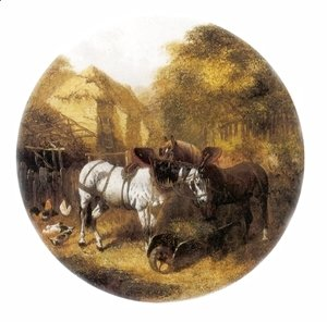 John Frederick Herring Snr - The Team at Rest in a Farmyard