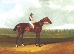 John Frederick Herring Snr - Theodore With Jockey Up
