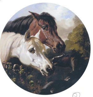 John Frederick Herring Snr - Two Hoeses And A Foal