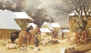 John Frederick Herring Snr - Winter in the Farmyard 1857