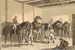 John Frederick Herring Snr - Fores Stable Scenes Thorough Breds