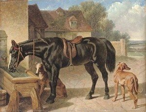 John Frederick Herring Snr - A farmer's hack and greyhounds