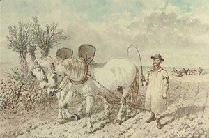 John Frederick Herring Snr - A labourer with a ploughing team