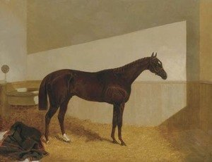 The Baron, winner of the St. Leger, 1845