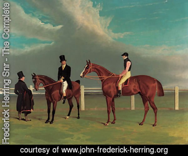 John Frederick Herring Snr - The Colonel, a chestnut racehorse, winner of the Great St. Leger Stakes, Doncaster, 1828, with William Scott up, the Hon. Edward Petre