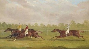 John Frederick Herring Snr - The Doncaster Gold Cup of 1835 with Lord Westminster's colt Touchstone, with William Scott up, Mr. Richardson's colt Hornsea