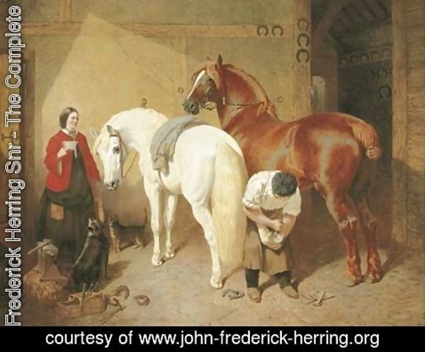 John Frederick Herring Snr - The Interior of a Smithy