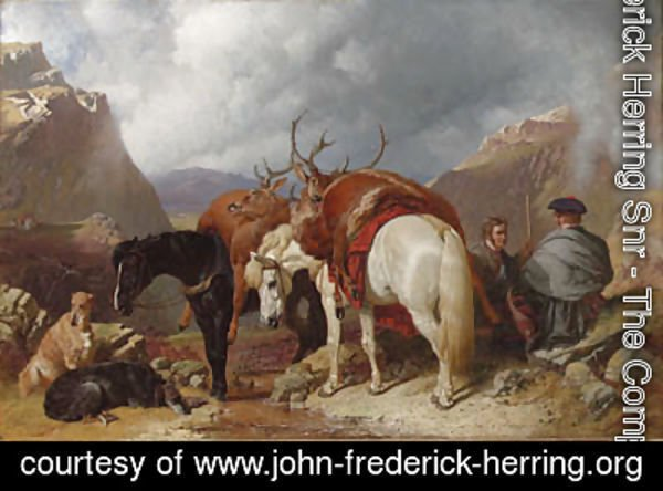 John Frederick Herring Snr - The return from deer stalking