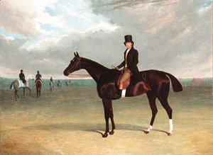 John Frederick Herring Snr - The Marquess of Exeter's Galata with her trainer Job Marson up
