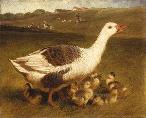 John Frederick Herring Snr - A Goose and Goslings