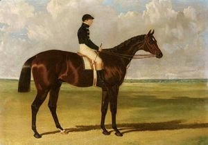 John Frederick Herring Snr - Mango, A Brown Racehorse With Sam Day Up, On A Racecourse