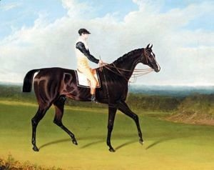 John Frederick Herring Snr - Filho Da Puta, A Dark Bay Racehorse With Thomas Goodisson Up Wearing The Colours Of Mr Thomas Houldsworth