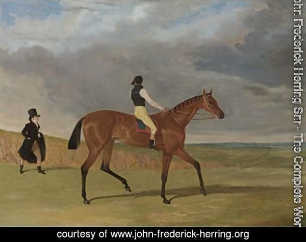 Matilda, Winner Of The 1827 Great St. Leger, With James Robinson Up And Trainer Jonathan Scott