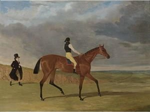 John Frederick Herring Snr - Matilda, Winner Of The 1827 Great St. Leger, With James Robinson Up And Trainer Jonathan Scott