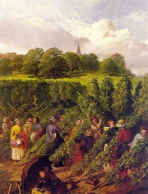 John Frederick Herring Snr - The Hop Pickers  1855
